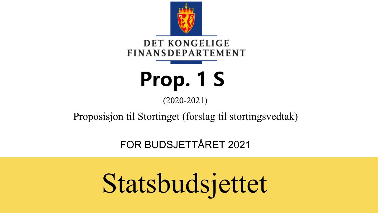 Statsbudsjettet illustrasjon