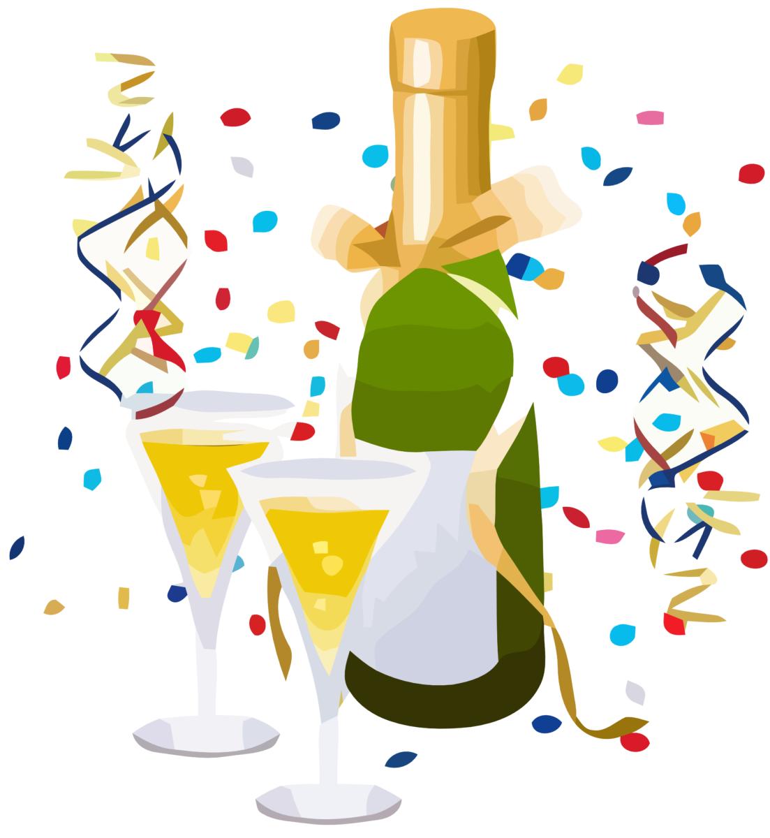 Feire med champagne