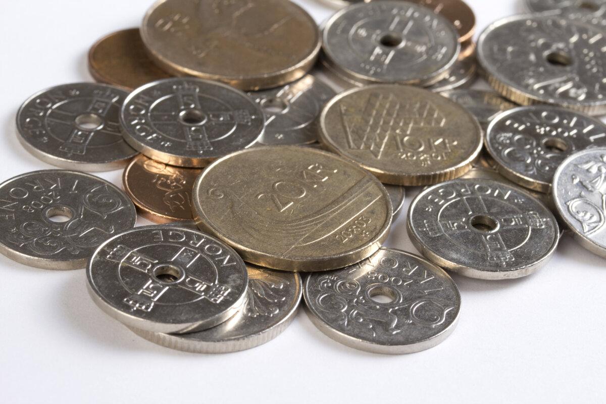 Norske kroner i mynter
